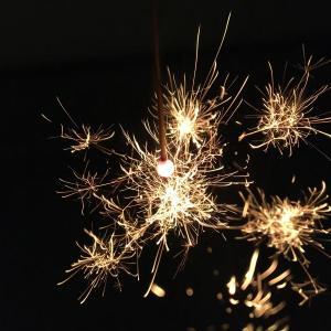 線香花火で送り火を🎆