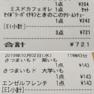 買い物日記 10/2 食費 3,517円 雑費 980円 市民税 29,220円