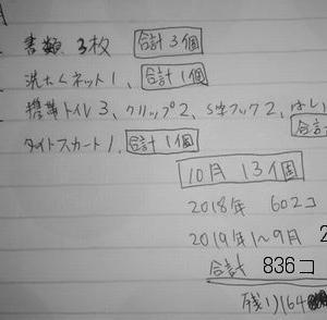 1000個捨てチャレンジ 10月分報告 13個