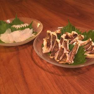【料理】アコウ&マダイの刺身、唐揚げ