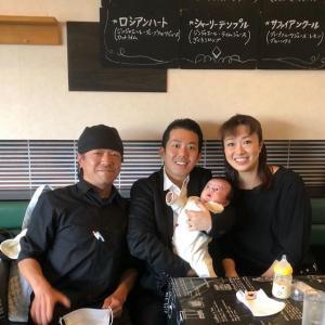 北翔海莉・藤山扇治郎夫妻、美治ちゃんのお誕生2ヶ月のお祝いをしたそうです