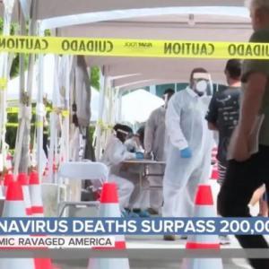 アメリカの新型コロナ死者数が20万人に!第一次世界大戦を上回る!世界の感染者数、1週間あたりでも過去最多