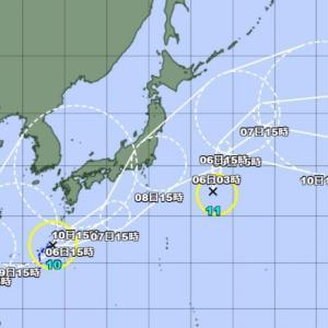 台風3つが出現、日本列島に向けて移動中!台風9号(ルピート)・台風10号(ミリネ)・台風11号(ニーダ)