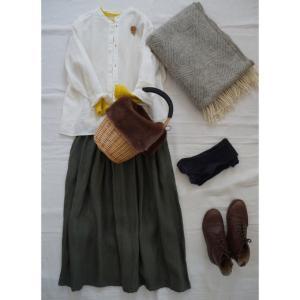 ナチュラル服。春を意識してコーディネート