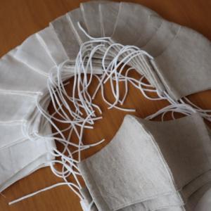 リネン布マスクの制作とリネンはぎれセット