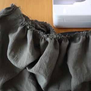 6/2のハンドメイドナチュラル服の制作。