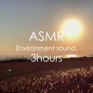ASMR | 睡眠 | 夕日に染まった秋の野原で遠くの海の波の音を聴いてみる | 3時間 | environment sound