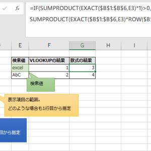 Excel VLOOKUP関数で大文字小文字を区別する方法