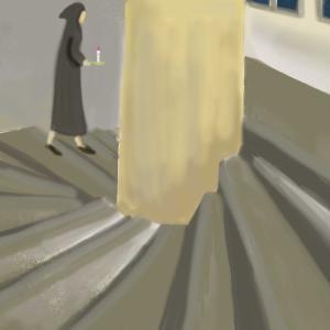 深夜の螺旋階段にて