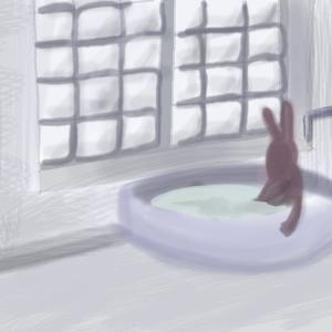 風呂に入りリラックス