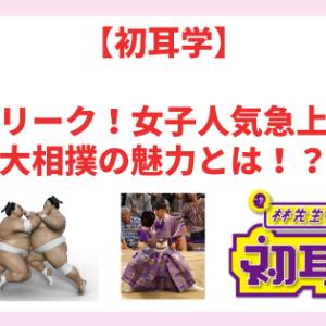 【初耳学】相撲大好き「スー女」とは?女子人気急上昇中の大相撲の魅力を紹介!