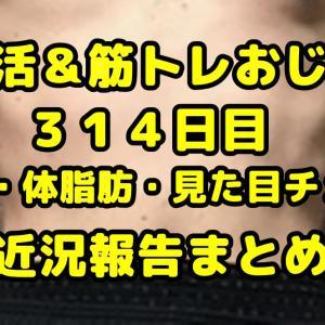 【デブ活おじさん314日目】体重・体脂肪測定・体型チェック画像まとめ