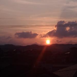 夕日が四角・・・