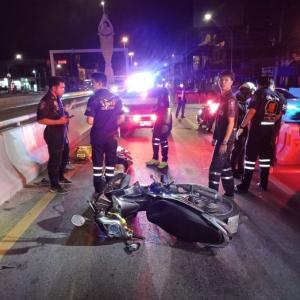 パタヤ)また工事現場で交通事故、バイク衝突で女性重傷(ニュース動画付き)