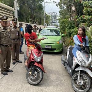 パタヤ)道路で突然、拳銃で脅して金品を強盗!犯人逮捕