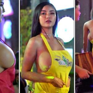 バンコク)過激すぎる服装のウエイトレスに罰金