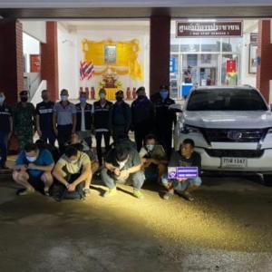 タイ)中国人10人がカンボジアからタイへ不法入国!逮捕