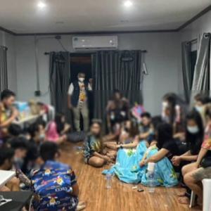 ラヨーン)検疫明けにプールヴィラでドラッグパーティー、39人逮捕