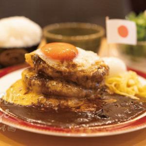 大阪・昭和町のテレビや雑誌で紹介される洋食店の土日限定の夢のハンバーグ3段盛!肉汁あふれるビーフ100%鉄板で焼く大人のハンバーグトリプル!洋食ふきのとう