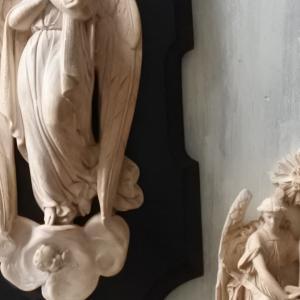 ナポレオン3世時代の聖水盤などのフランスアンティーク雑貨 展示会11/21-24東京根津りんごや