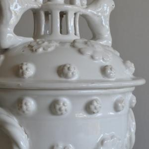 エミールテシエ 白釉 ポプリポット はじめ白い陶器やクリームウェア Reves a la lumiere de Neol 展 11/21-24東京根津りんごや