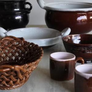 キュノワールと焦茶釉の器たち♪ フランスアンティーク 次回更新のお品もの