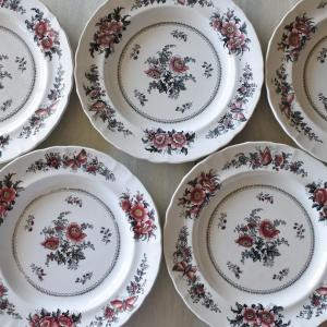 フランスアンティーク食器 19世紀 お花柄やパリの風景柄 など♪♪♪