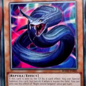 【遊戯王最新情報フラゲ】カードの効果で墓地へ送られると特殊召喚!?《Night Sword Serpent 》が新規収録決定!