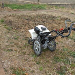 ボンベ式耕運機サラダくん、動く。