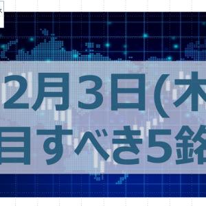 【好材料で上昇期待】明日2020年12月3日(木)の注目銘柄5選!話題株:オプティム・JMDC・三菱UFJ FG・トヨタ自動車・ミライトHD