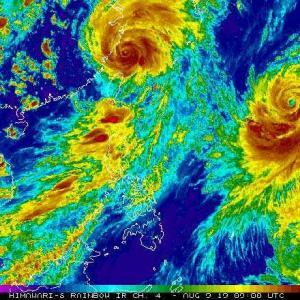 台風Krosa(10号)と台風Lekima