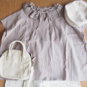 【SM2 先行セール購入品】衿レースブラウスのコーデ!シンプルなリネンパンツと