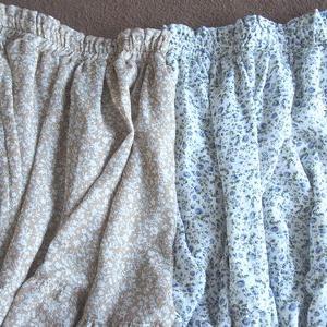 しまパト 最新しまむらでスカートが1000円小花柄ロング丈ティアードシフォン