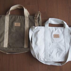3coinsの2WAYキャンバスバッグが500円でも大きいサイズ