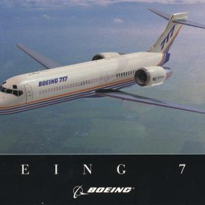 日本航空(JAL)ポストカード BOEING(ボーイング)