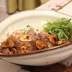 【recipe】ステーキ丼/SATOブリアン