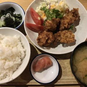 『天神橋2丁目食堂』シンプルにウマイから揚げ、明太子付きごはんセットが安定の美味さ!
