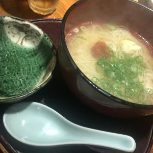 『矗々家 難波店』もちもち生麩とお出汁の効いたにゅう麺がウマイ!