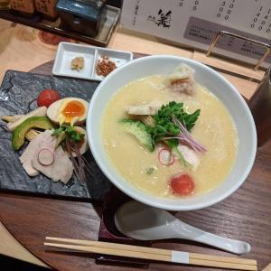 ミシュラン掲載!銀座篝の鶏白湯Sobaが美味しい!