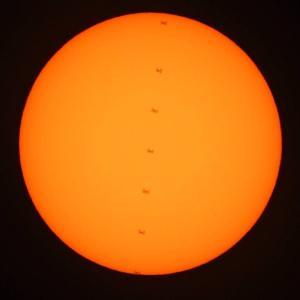 ISS 太陽面通過