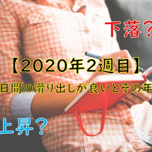 【2020年2週目】年始5日間の滑り出しが良いとその年は上昇?下落?