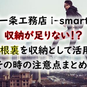 【一条工務店 i-smart】収納が足りない!困ったときは屋根裏を収納として活用するのもあり!その時の注意点!