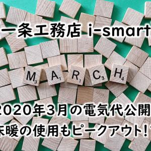 【一条工務店 i-smart】2020年3月の電気代公開!床暖の使用もピークアウト!?
