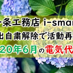 【一条工務店 i-smart】外出自粛解除で活動再開!2020年6月の電気代は!?