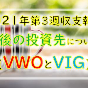 【2021年第3週】次の投資先候補!VWOとVIGを狙ってます!