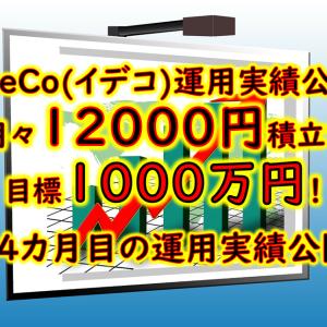 【iDeCo(イデコ)運用実績公開】 月々12000円積立で60歳までに目標1千万円!34カ月目の運用実績公開!【自分年金】