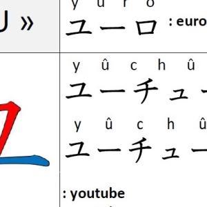 KATAKANA –ユ « YU »