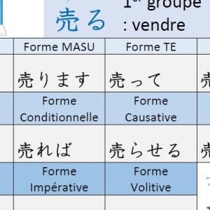 Conjugaison du verbe « 売る URU : vendre » en japonais