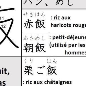 Kanji – 飯(ハン、めし/ riz cuit, repas)-2-