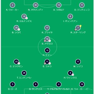 試合レビュー マンチェスターシティ VS トッテナム プレミアリーグ第2節